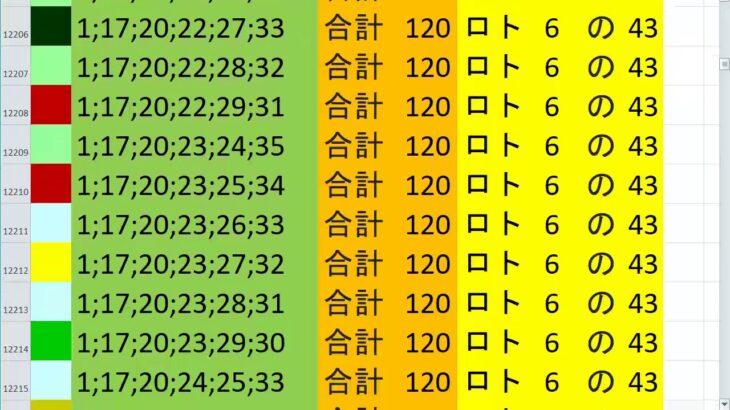 ロト6 合計 120 ビデオ 13