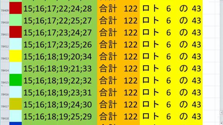 ロト6 合計 122 ビデオ 81