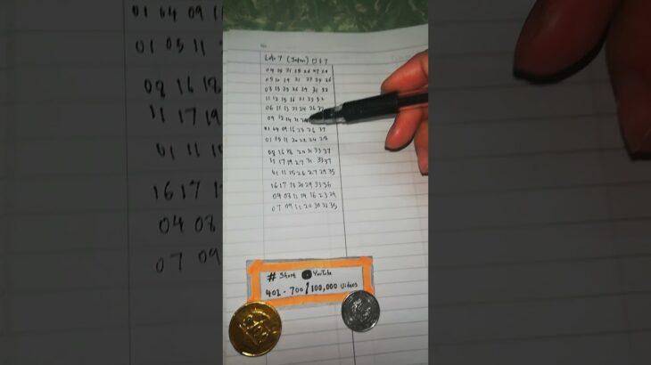 ロト7🎌 Loto7 🇯🇵  Winning 7D Lucky 298 Millions $ 🥇 Lottery Jackpot Toto Loto Mega Monday Numbers 🔢 🥉