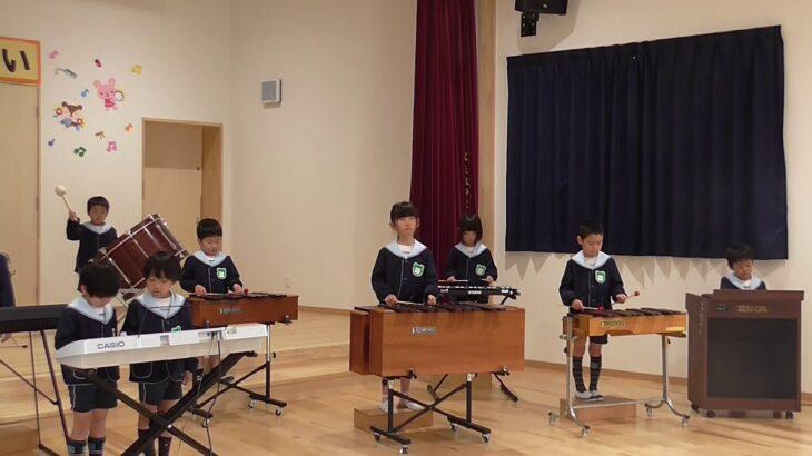 合奏 「ドラゴンクエスト(ロトのテーマ)」(右側) ・・・ ゆり組 (5歳児)