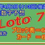 #ロト7 #当選数字予想 令和3年4月2日(413回)抽選分当選数字予想、前回結果分析
