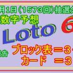 #ロト6 #当選数字予想 21年4月1日(1573回)抽選分当選数字予想、前回結果分析