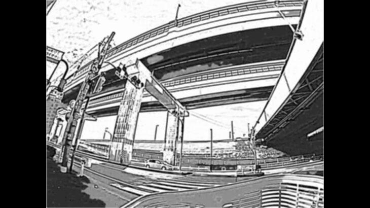 【東京の街並みをロトスケッチ風に】足立区五反野から北千住