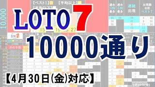 🔵ロト7・10000通り表示🔵4月30日(金)対応