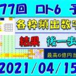 第1577回 ロト6予想 2021年4月15日抽選