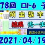 第1578回 ロト6予想 2021年4月19日抽選