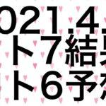 【2021.4.5】ロト7結果&ロト6予想!