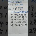 4月12日   第1576回   ロト6予想