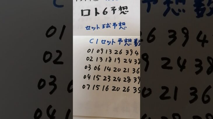 4月5日  第1574回  ロト6予想