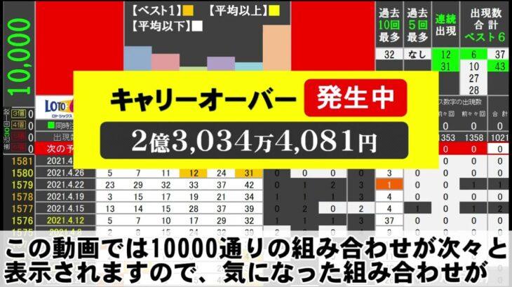 🟢ロト6・10000通り表示🟢5月3日(月)対応