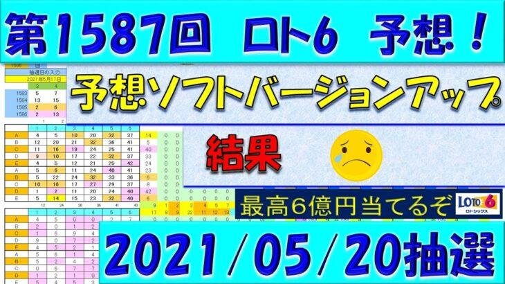 第1587回 ロト6予想 2021年5月20日抽選