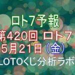 【宝くじ】地味に当る!?ロト7予報。第420回5月21日(金)