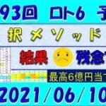 第1593回 ロト6予想 2021年6月10日抽選