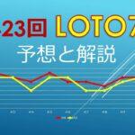 2021年6月11日、423回ロト7の当選数字を予想