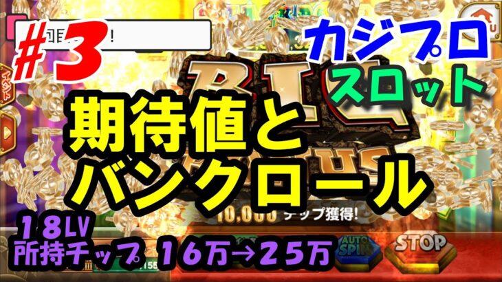 【カジプロ】#3 期待値とは、バンクロールとは【スロット】ギャンブル愛好者によるカジノプロジェクト 18LV  チップ16万→24万