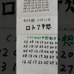 6月11日  第423回  ロト7予想