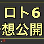 ロト6予想/6月10日(木)/1593回