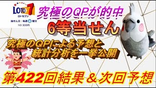 【ロト7当せん】最新情報(第423回予想、ect)