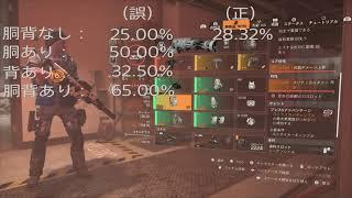 【Division2 】ストライカーギャンブルのダメージ計算式【武器応用】