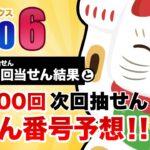 【第1599回→第1600回】 ロト6(LOTO6) 当せん結果と次回当せん番号予想