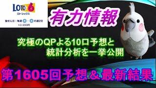 【ロト6】最新情報(第1605回予想、etc)