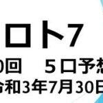 ロト7#430回組合せ予想 キャリーオーバー継続中!!