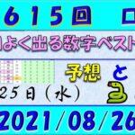 第1615回 ロト6予想 2021年8月26日抽選