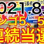 【2021.8.5】ビンゴ5、5週連続当選!&ロト6予想!