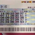 ロト6購入(2021/08/02公開分)1608回【#ロト6】【#ロト6】