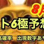 【ロト6極み予想】8月は来る!当選アップ⤴️
