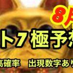 【ロト7極み予想】8月は当選!当選!当選!