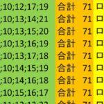 ロト 7 合計 71 ビデオ 22