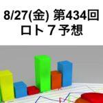 8/27(金)434回_ロト7予想【宝くじが当たったら会社を辞めたいと思っている人向けシリーズ】