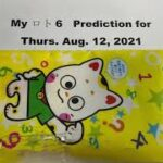 My ロト6 & ナンバース3/4 Prediction for Thurs. Aug. 12,2021-Members