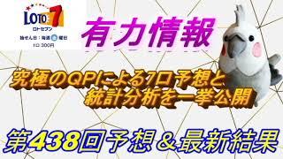 【ロト7】最新情報(第438回予想、etc)