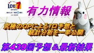【ロト7】最新情報(第439回予想、etc)