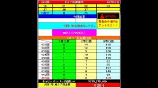 ロト7予想442回(10/22)BIGChance10億円