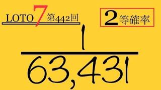 【ロト7】第442回‼️答え合わせ‼️2等成功‼️2等確率『1/63,431』